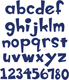 Sizzix A11038 Bigz XL Alphabet Die, Boss-O Lowercase Letters & Numbers by Emily Humble, 1-1/2-Inch, Multicolor