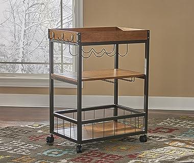 """Linon Austin Kitchen Cart, 30.5""""W x 18.13""""D x 36.25""""H, Black"""