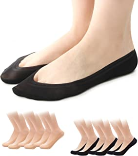 Loafer Liner Womens Casual No-Show/None Slip Hidden Socks, 6 pairs