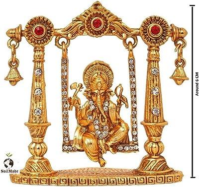 SoilMade Ganesh Ji Jhula God Figure (Gold)