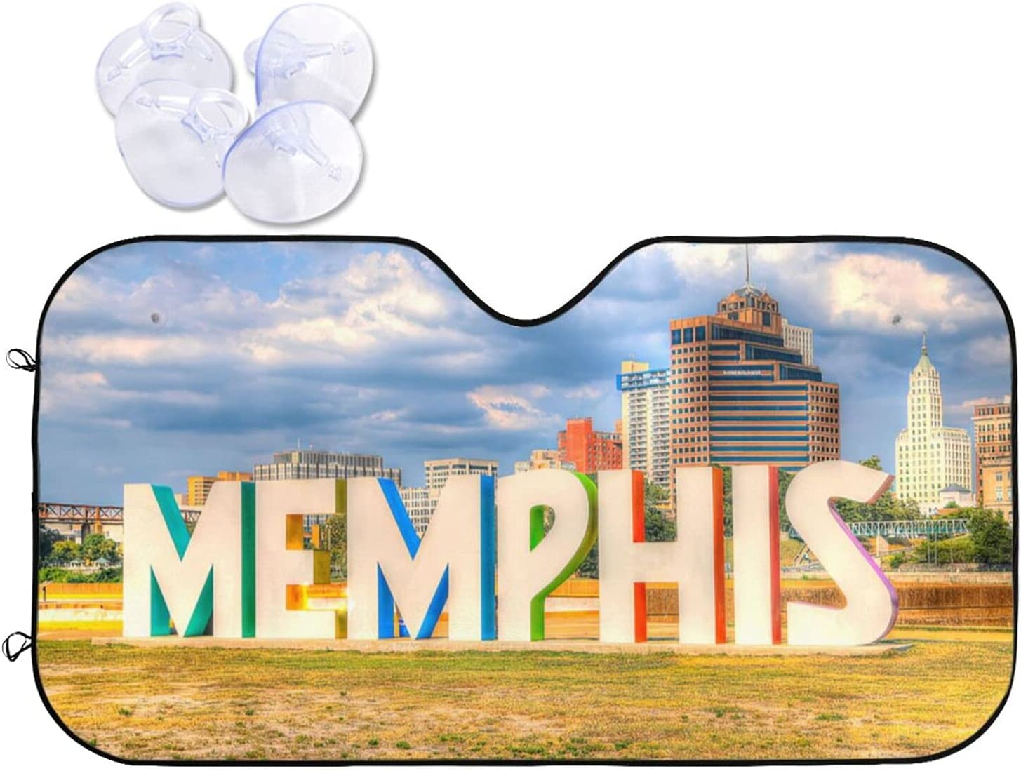 KXT Japan's largest assortment Windshield Sun Shade Memphis Sign Island Car Foldable Mud on High quality new