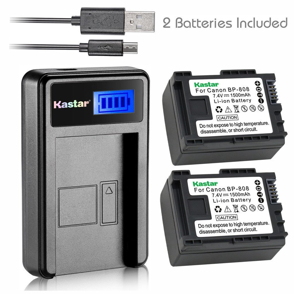 HFS21 HFS30 Camcorder HFS20 USB Dual Battery Charger for Canon LEGRIA HFS11