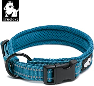 TRUE LOVE Dog Collar Reflective Premium Duraflex Buckle,High Grade Nylon Webbing No Choke Basic Collars Truelove TLC5011