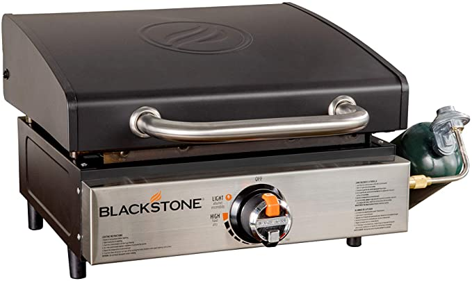 """Blackstone 1814 Tabletop 17"""" Flat Top Gas Griddle - The Best Tabletop Griddle With A Hood"""