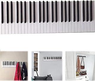 """Porte-Manteaux en Bois Piano Porte-Manteaux en Bois Auto-Adhésifs 12""""Piano Clés De Piano Crochet À Manteau Mural Cintre po..."""