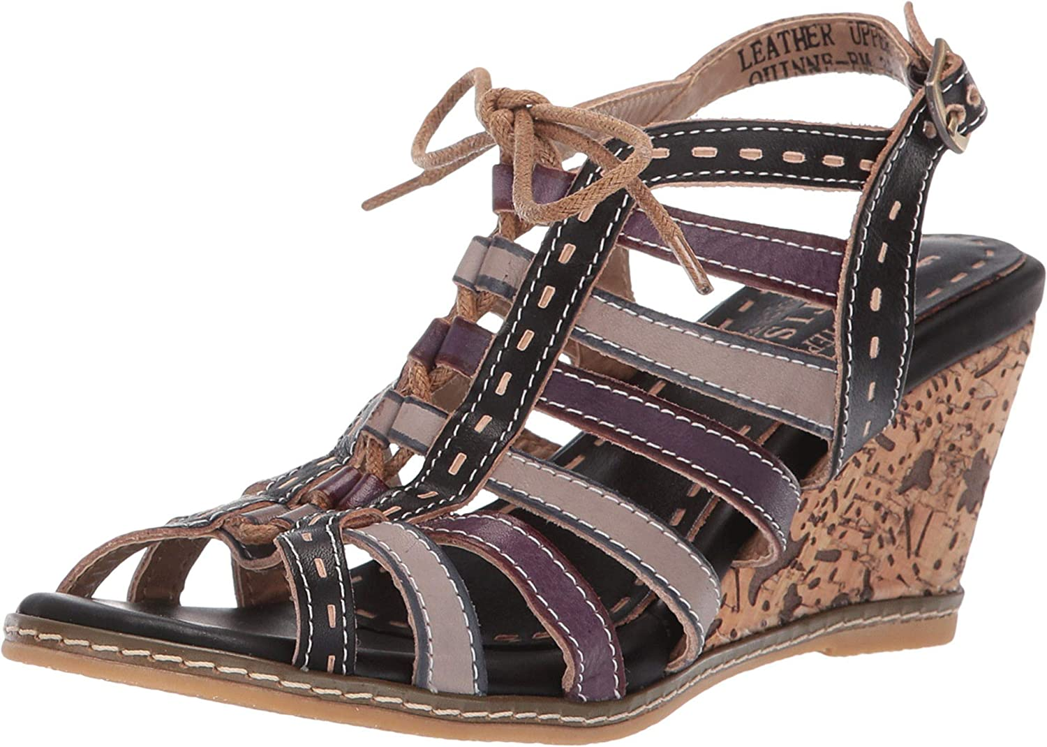Spring Quantity limited Step Spring new work one after another L'Artiste Women's Sandal Quinne Wedge