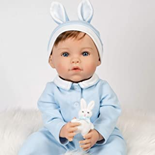 Paradise Galleries Easter Themed Reborn Toddler Doll with Rooted Hair - 20 inch Boy Honey Bunny, 6-Piece Gift Set with Mag...