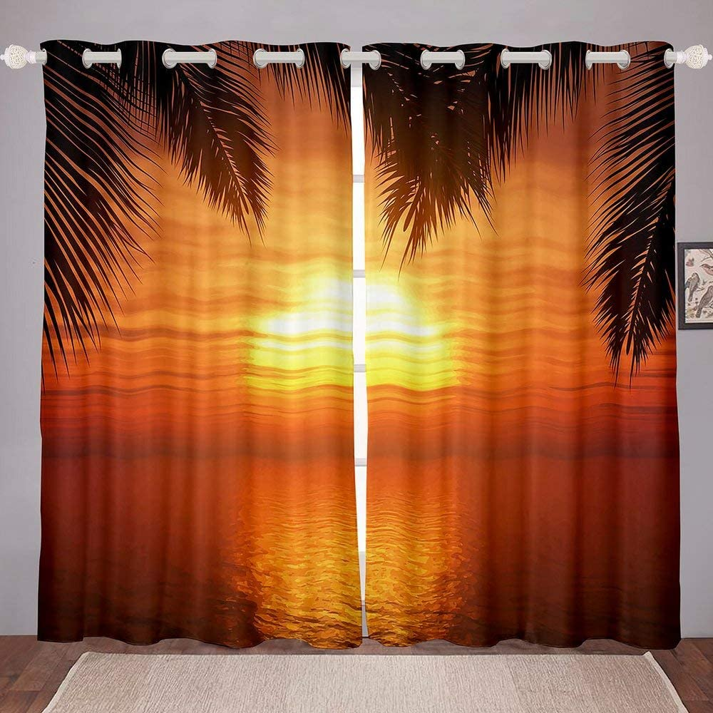 Sunset Ranking TOP7 Window Curtain New color Room Curtains Grommets with