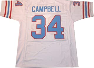Bayyon Unsigned Earl Campbell Houston White Custom Stitched Football Jersey Size Men's XL New No Brands/Logos