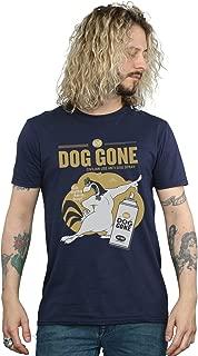 Looney Tunes Men's Foghorn Leghorn Dog Gone T-Shirt X-Large Navy Blue