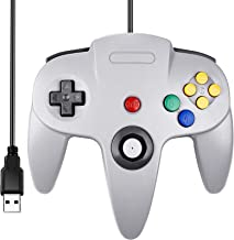 Classic N64 Controller, SAFFUN N64 Wired USB PC Game pad Joystick, N64 Bit USB Wired Game Stick Joy pad Controller for Win...