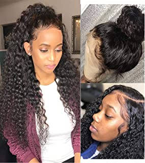 Luduna Lace Front Wigs Real Human Hair Deep Wave Preplucked Lace Frontal Wig With Baby Hair 150% Density Glueless Deep Cur...