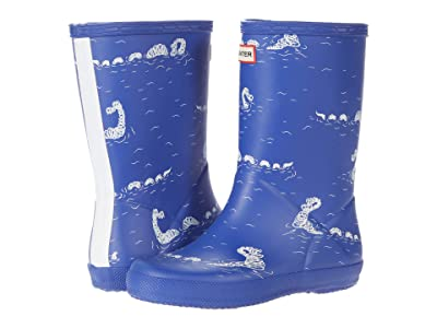 Hunter Kids Original First Classic Nessie Print Wellington Boots (Toddler/Little Kid) (Cuttle Blue) Kid