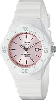 Casio Men's Classic Stainless Steel Quartz Watch with Resin Strap, Black, 18 (Model: LRW-200H-4E3VCF)