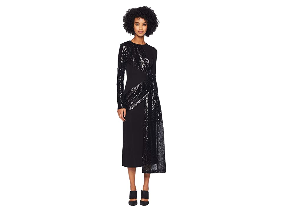 Prabal Gurung Shilu Twist Front Dress (Black/Black) Women