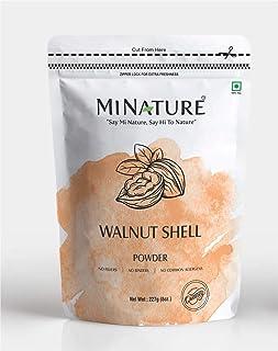 mi nature Walnut Shell Powder No Silica or Any Artifical Additives for Homemade Natural Scrub Formula 227 g/1/2 lbs/8 oz
