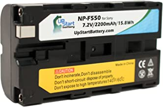 Sony NP-F550 Digital Camera Battery Replacement (2200mAh, 7.2V, Lithium-Ion) - Compatible with Sony HXR NX5U, HDR FX1, NEX FS100, HDR FX7, HVR V1U, HVR Z1U, HVR HD1000U, HDR FX1000, HVR Z5U, DSR PD150