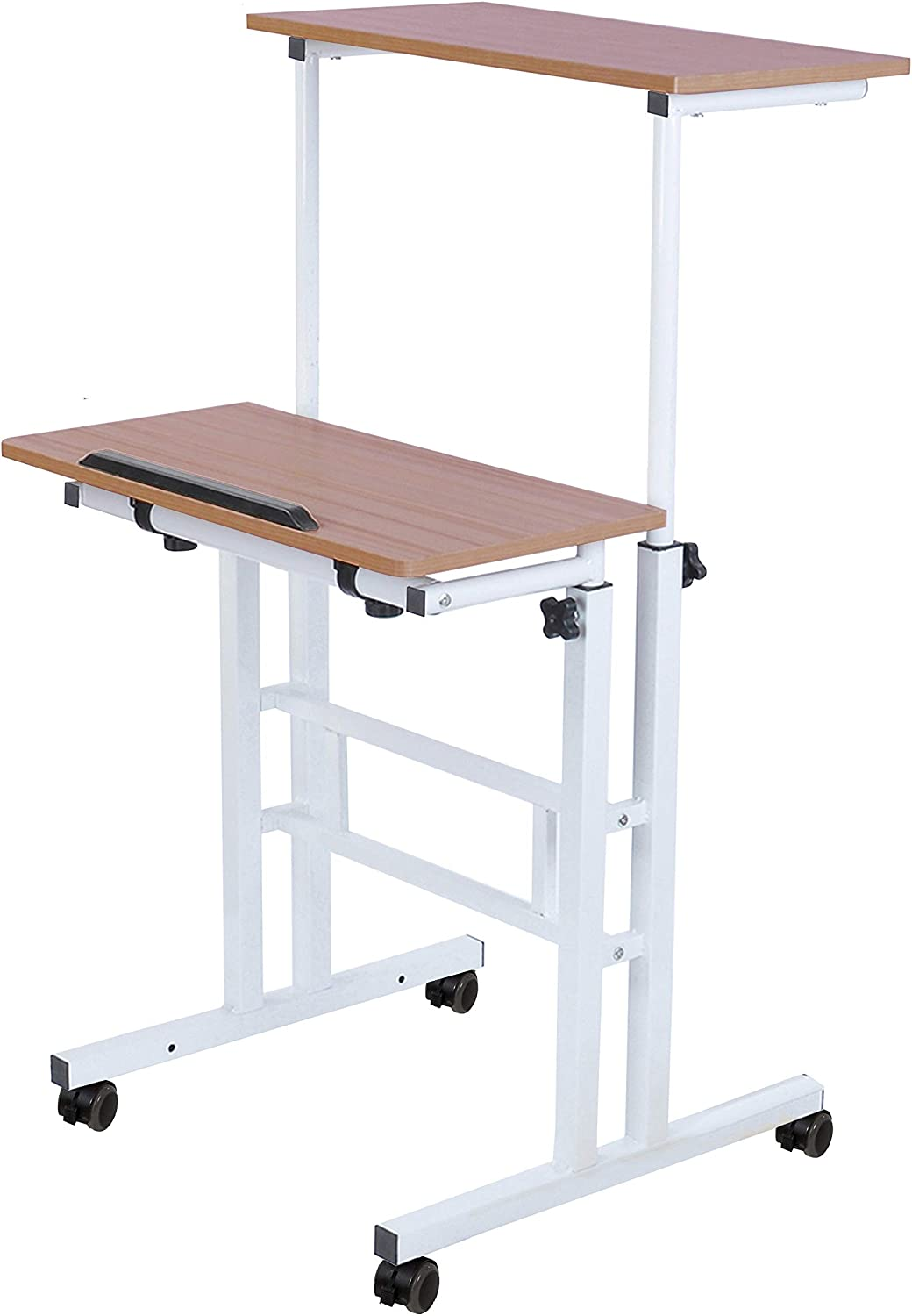 SDADI 2 Inches Carpet Wheels Desk Mobile Stand famous Up Standing Philadelphia Mall