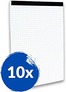 Landre 100050065 per mancini con rilegatura a spirale 80 pagine 70 g//m Quaderno in formato A4 confezione da 10 pezzi