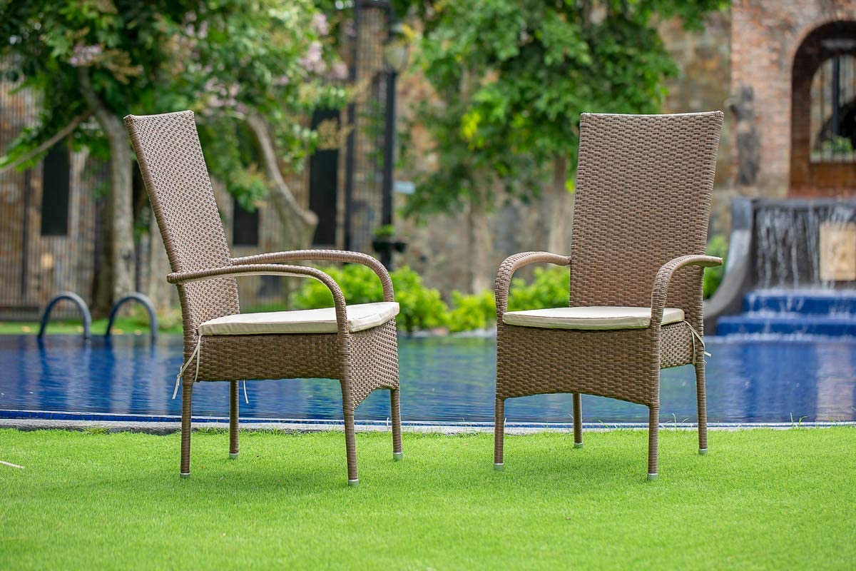 El Paso Mall East West Furniture Balcony Dining Arm Brown Popular products Wicke PE Chair with