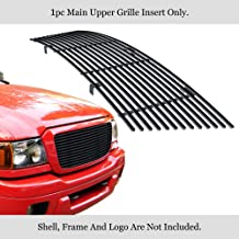 Compatible with 2004-2005 Ford Ranger All Model Main Upper Stainless Steel Black 8X6 Horizontal Billet Grille Insert F85237J