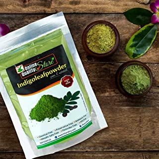 Online Quality Store Indigo powder for hair black organic|Indigo Powder|Organic Indigo Leaf Powder|Indigofera Tinctoria|Bl...