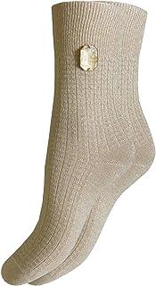 Bianchi Sockmaker in Italy since 1932 - Longuette lurex con cabochon cucito a mano, Donna