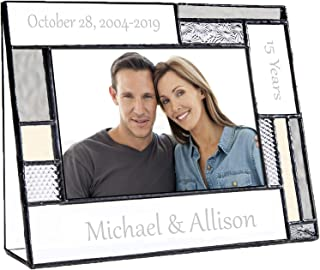 Anniversary Picture Frame Personalized Gift for Couple Engraved Glass 4x6 Horizontal Photo Keepsake Pic 392-46H EP625