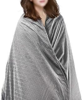 WOLTU Therapiedecke Gewichtsdecke für Erwachsene,11kg Schwere Decke mit abnehmbaren Warm Mikrofaser-Rautenmuster Bezüge, Weighted Blanket für besseren Schlaf,gegen Stress/Angst/Schlafstörung,150x200cm