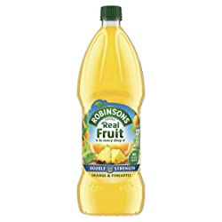 Robinsons Fruit Squash - Low Calorie -  Double Concentration - Orange and Pineapple - 1.75 Litre