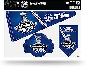 Rico Industries NHL Tampa Bay Lightning 2021 Stanley Cup Champions Die Cut Team Magnet Set Sheet