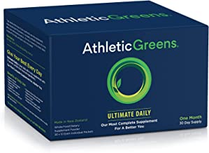 Athletic Greens Ultimate Daily, Whole Food Sourced All in One Greens Supplement, Superfood Powder, Gluten Free, Vegan and Keto Friendly,Travel Packs (Travel Packs, 30 Count)