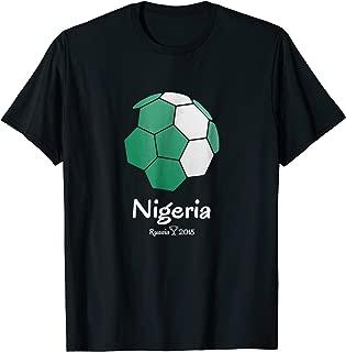 Nigeria Cheer Jersey 2018 - Football Nigerian Flag T-Shirt