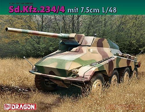 marca de lujo Dragon Dragon Dragon D6814 SD.KFZ.234 MIT 7,5 cm L 48 Kit 1 35 MODELLINO Model Compatible con  la red entera más baja