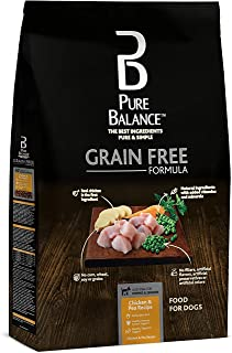 Pure Balance Grain Free DogFood Chicken & Pea Recipe Food for Dogs 4lbs