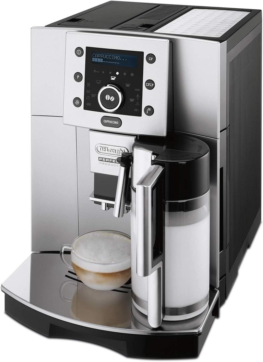 Delonghi ESAM 5500.M Máquina De Espresso Automática, 1350 W, 1.8 Litros, Acero Inoxidable, Gris