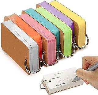 بطاقات دراسة ورقية، 7 عبوات من فويامب من 350 قطعة متعددة الالوان من ورق الكرافت، مع حلقة سهلة الفتح، بطاقات مذكرات/تهنئة/ب...