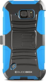 Galaxy S6 Active Case, BUDDIBOX [HSeries] Heavy Duty Swivel Belt Clip Holster with Kickstand Maximal Protection Case for Samsung Galaxy S6 Active, (Blue)