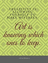 CREATIVITY IS ALLOWING YOURSELF TO MAKE MISTAKES : NOTEBOOK FOR NOTES BLANKED LINED JOURNAL: Crafts & Hobbies Notebook for notes blanked lined journal