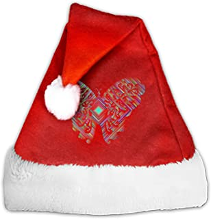 Butterfly Naughty and Nice Plush Red Holiday Christmas Santa Hats