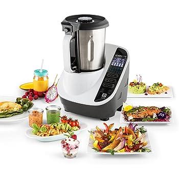 Klarstein Food Circus robot de cocina multifunción (olla al vapor, 10 funciones, fácil control, bol de 2 litros, sin BPA) - blanco: Amazon.es: Hogar