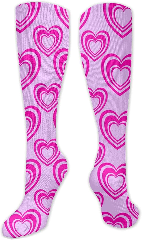 Purplelove Heart Knee High Socks Leg Warmer Dresses Long Boot Stockings For Womens Cosplay Daily Wear