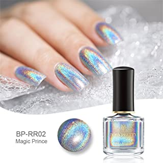 BORN PRETTY 6ml esmalte de uñas holográfico Holo Glitter Super Gloss Nail Art (Magical Rainbow)