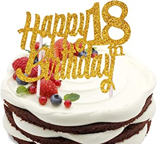 Sunny ZX 18 Years Loved Cake Topper Happy 18th Birthday Anniversary Party Decoration Premium Quality