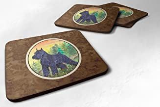 "Caroline's Treasures SS1051FC Schnauzer Foam Coasters (Set of 4), 3.5"" H x 3.5"" W, Multicolor"