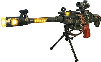 LilPals Special 25 Inch Rapid Fire Machine Gun Toy – With Dazzling Light, Remarkable Sound & Amazing Machine Gun Live Action