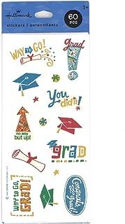 Hallmark Graduation Stickers 60 Count (Graduation Hats and Icons)