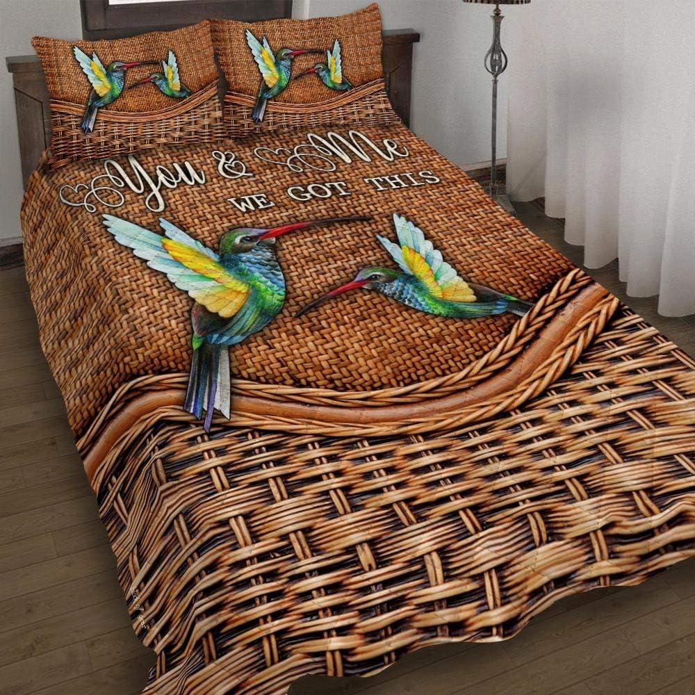 GEEMBI Quilt Gorgeous Bedding Set-You Me This Max 67% OFF Got We Hummingbird