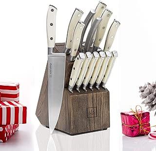 Best white knife set block Reviews