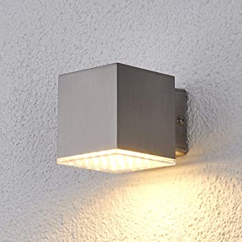 Led Outdoor Wall Light Lydia Modern In Silver Made Of Stainless Steel 1 Light Source A From Lindby Wall Lamp For Exterior Interior Walls House Terrace Balcony Amazon Co Uk Lighting